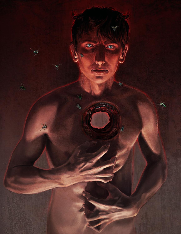 Wrath: The Devil Lies Behind Blue Eyes Artwork by Elissa  Weaver