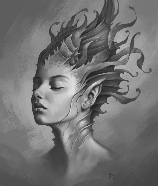 Girl of the Ocean Artwork by Olivier BERNARD