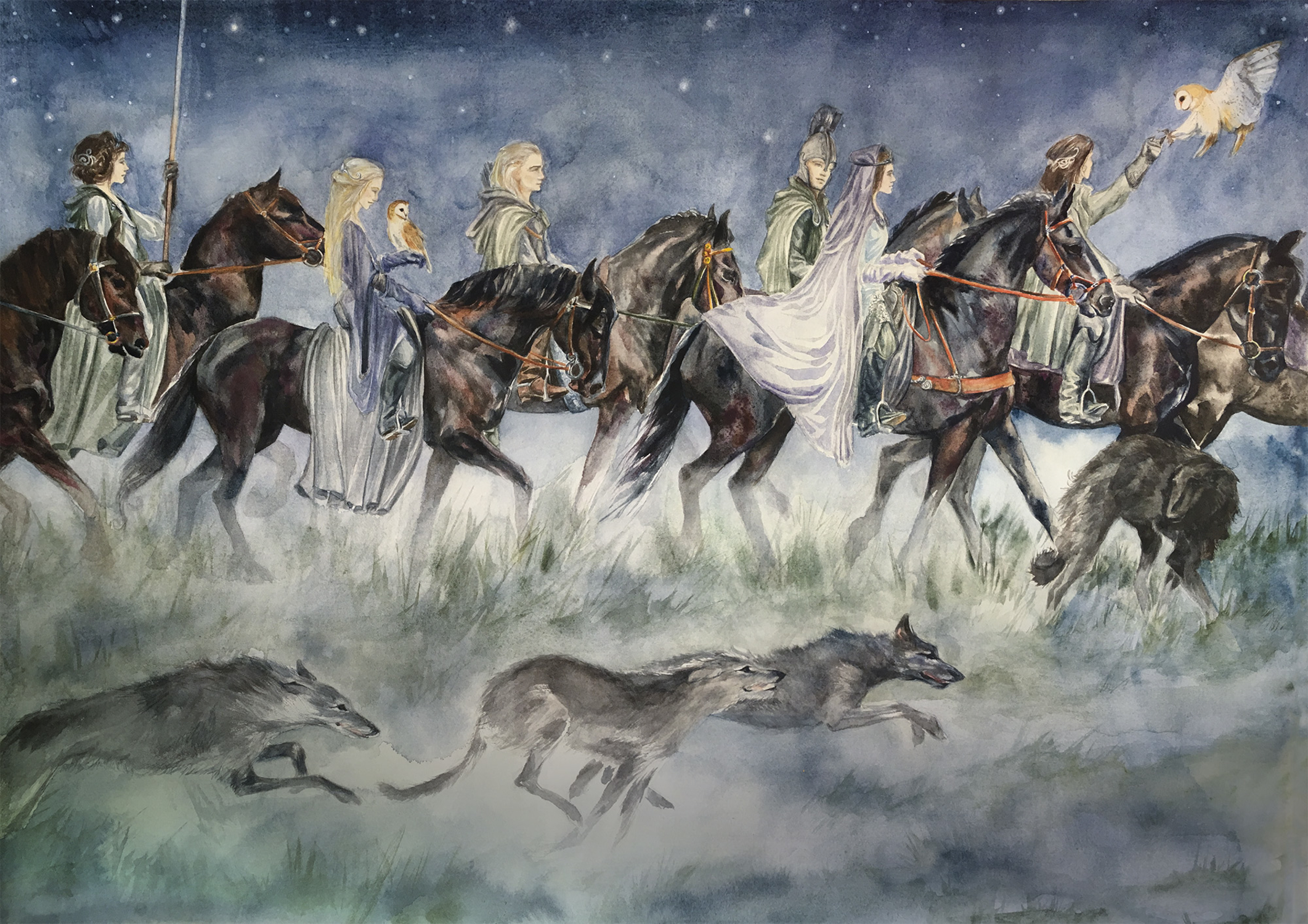 To the Grey Havens Artwork by Clare Henry McCanna