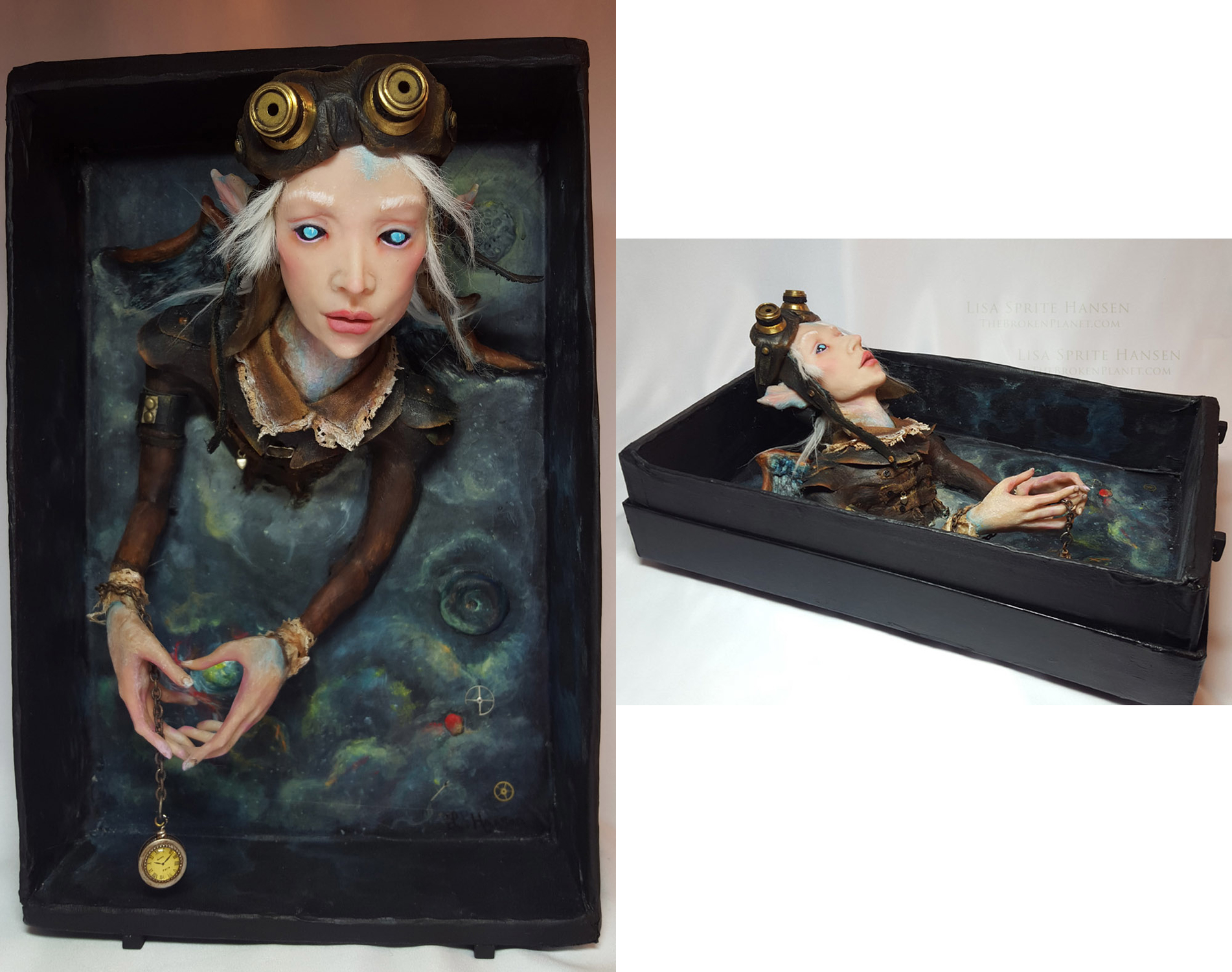 Sarum  - Shadowbox Artwork by Lisa Sprite Hansen