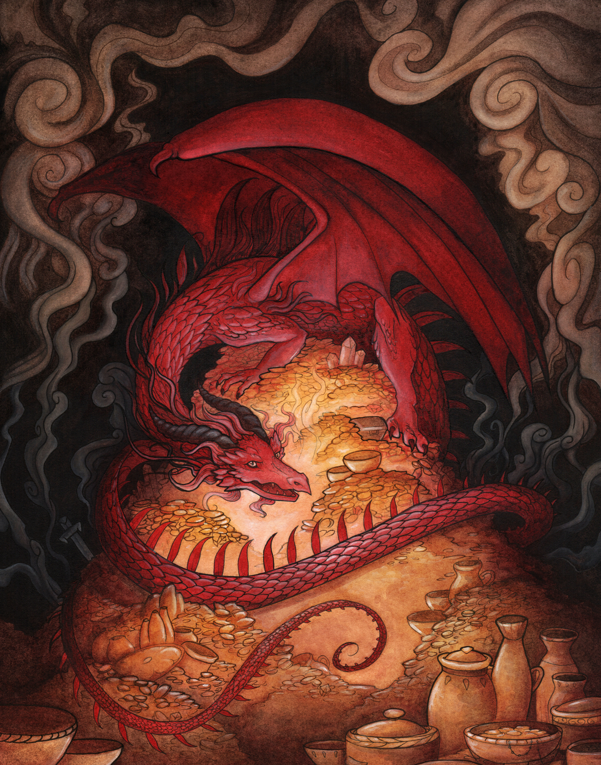 Hoarding Dragon Artwork by Madalyn McLeod