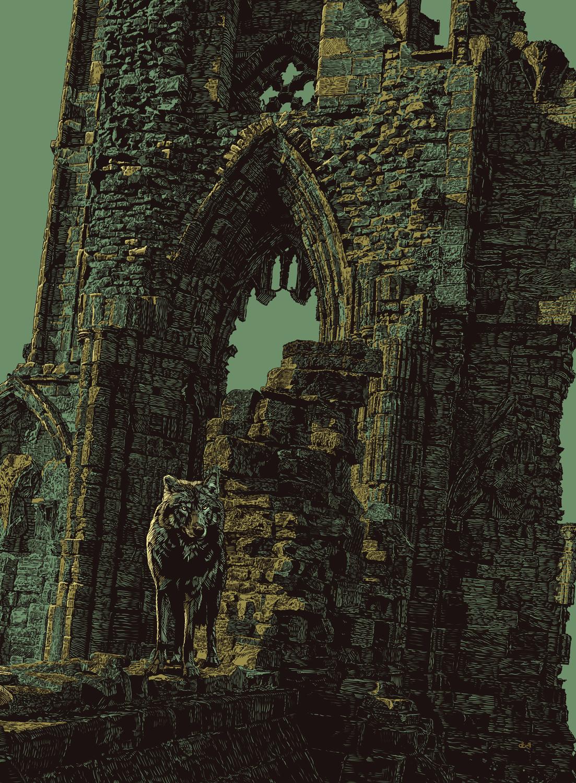 Dire Wolf Abbey Artwork by Douglas Bell