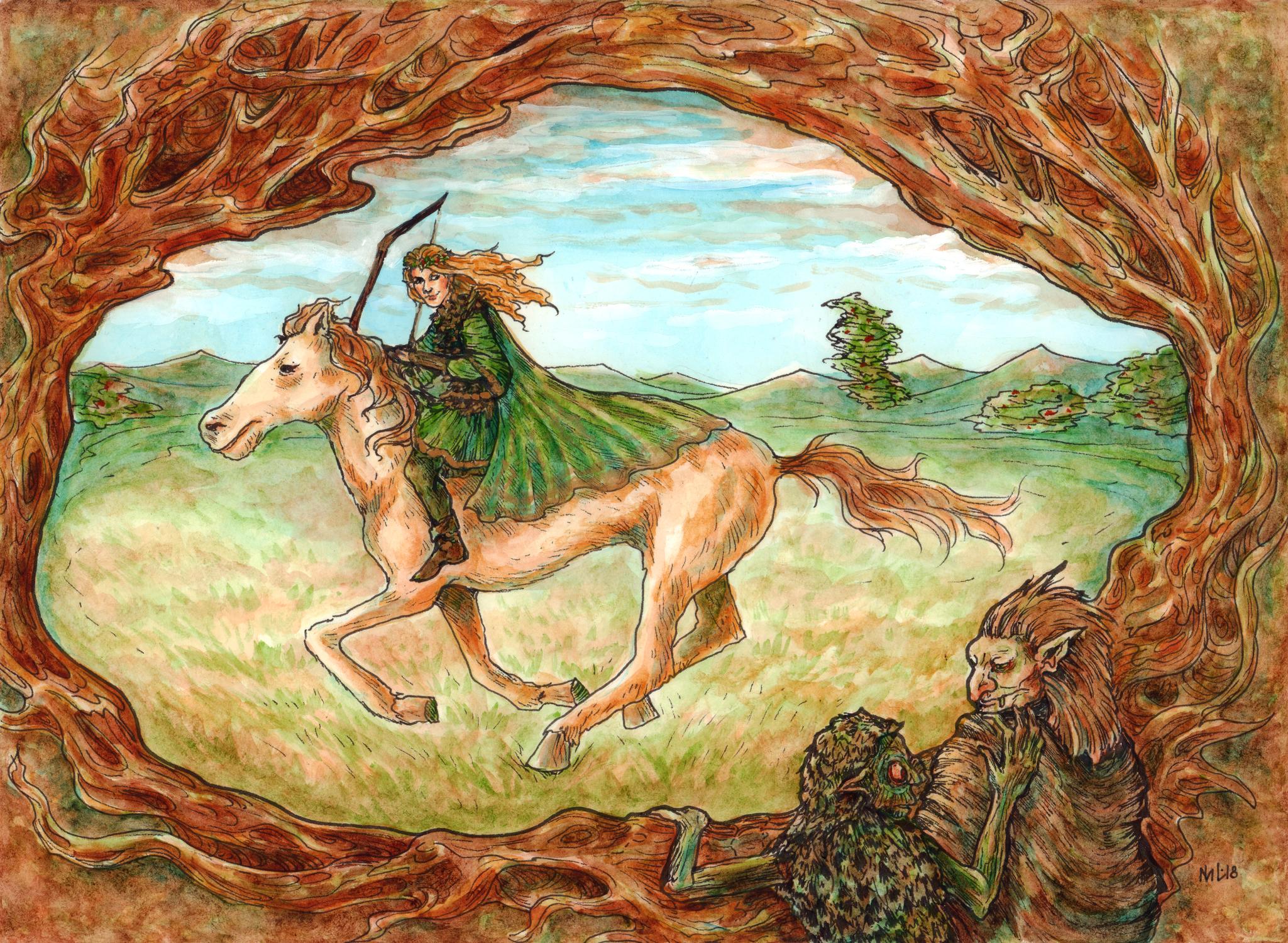 The Hunt Artwork by Morgan Lees