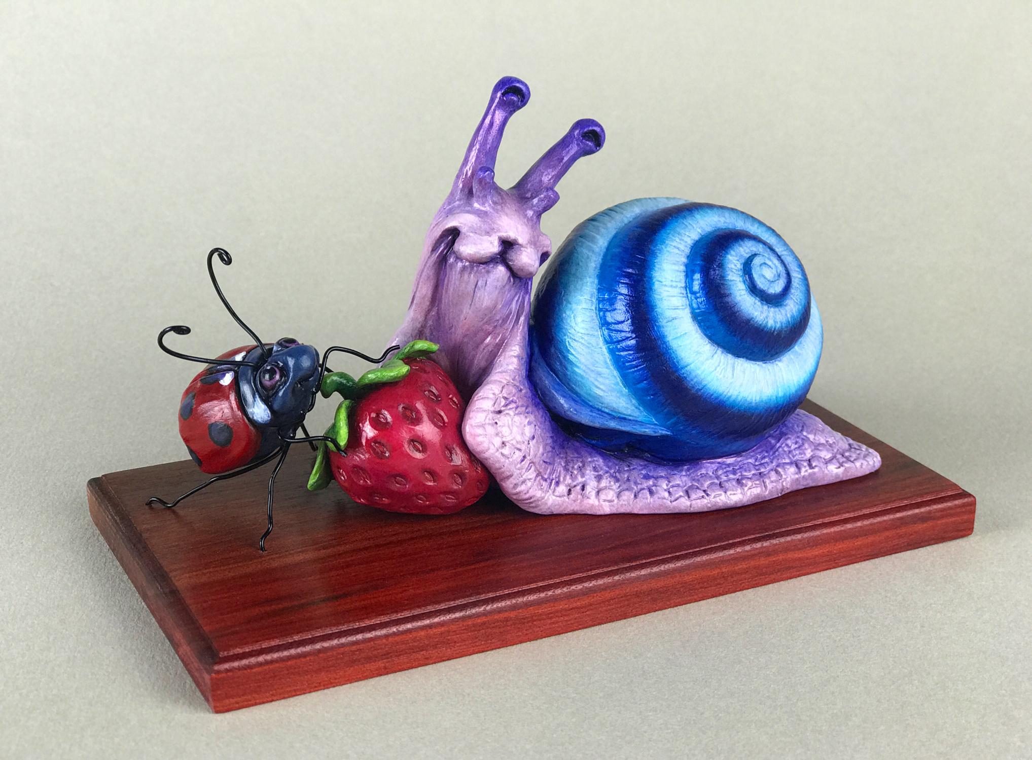 Berry Snacks are Best Snacks Artwork by Erica Lyn Schmidt