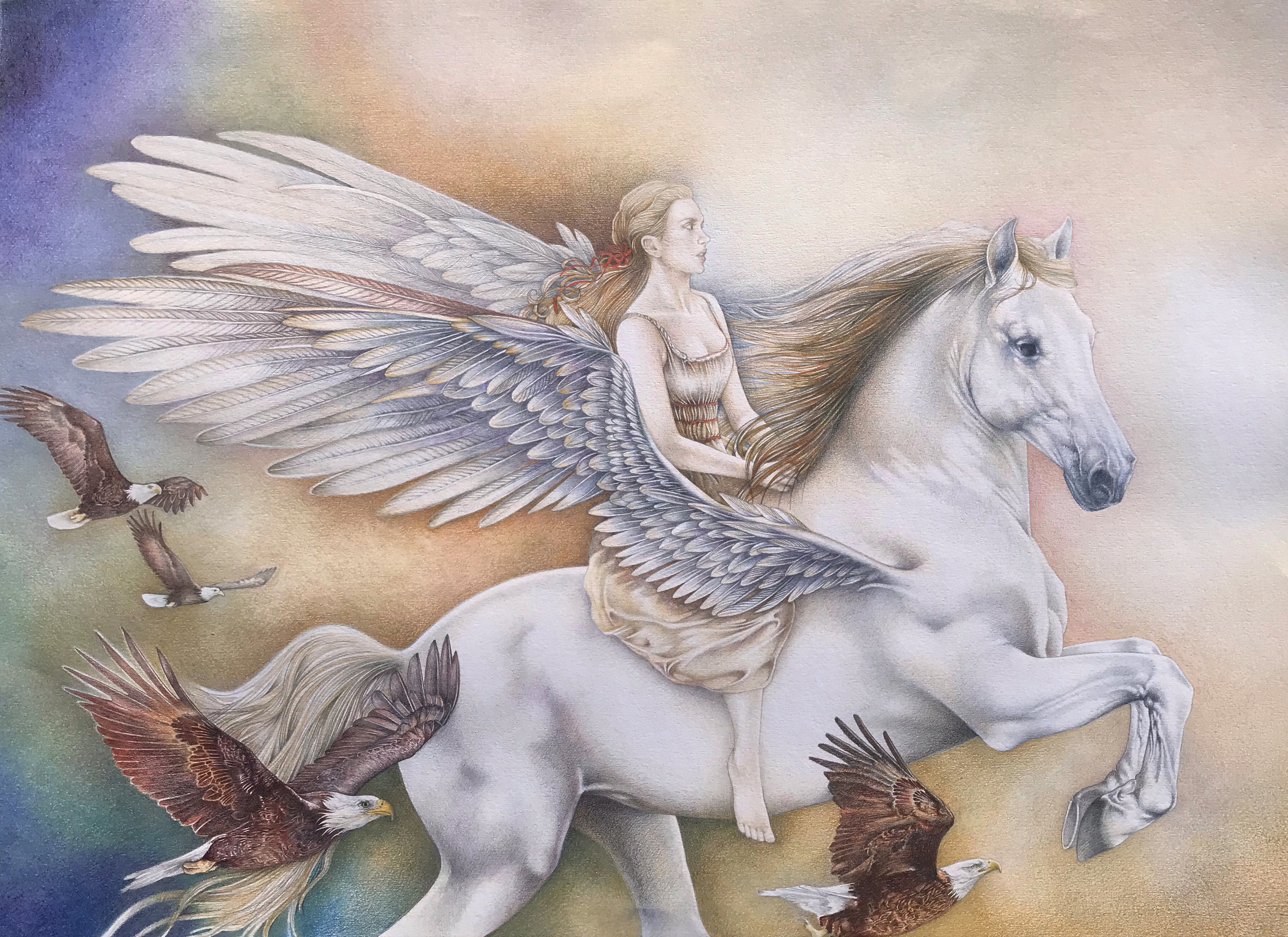 The Dreaming Girl Artwork by Bonnie Helen Hawkins