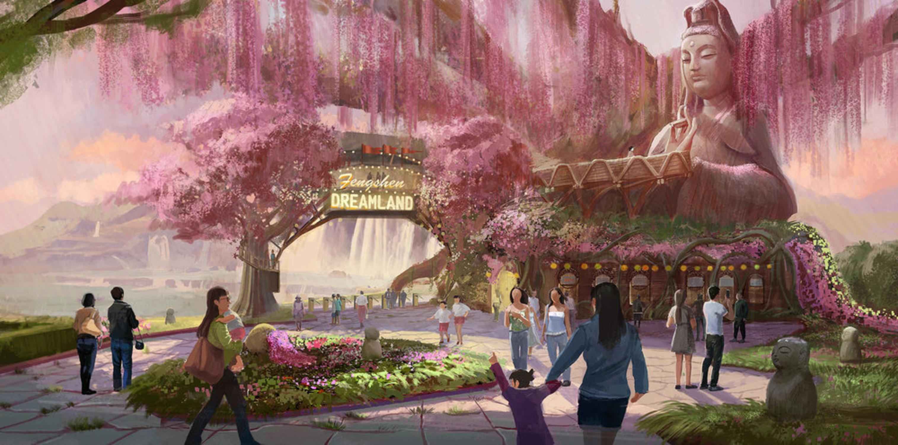 Theme Park Concept Art Artwork by Qianjiao Ma