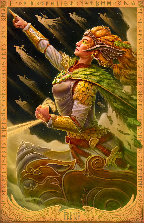 Freyja: Vanir Goddess Artwork by James Bousema