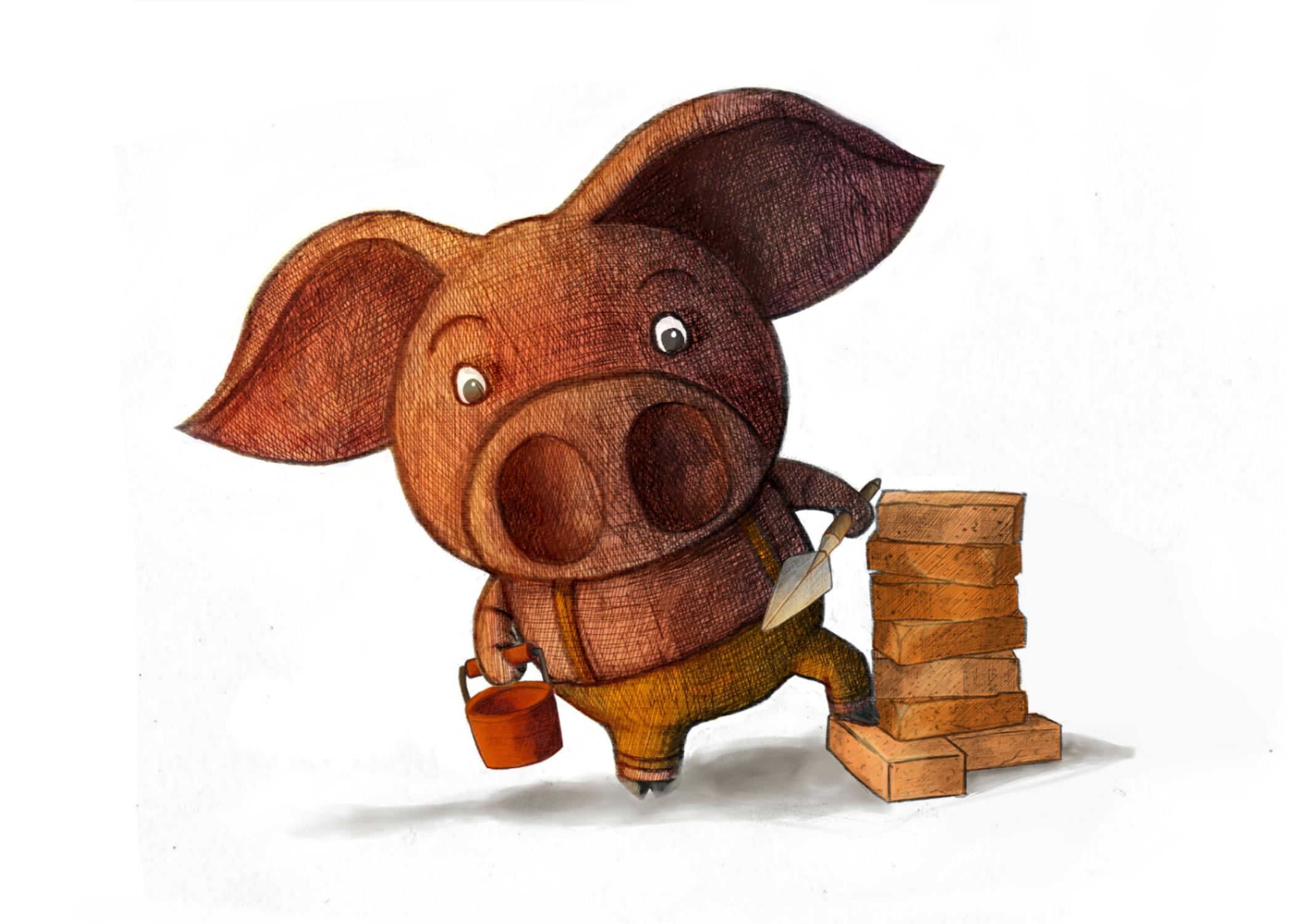 Pig of Bricks Artwork by Julian Beresford