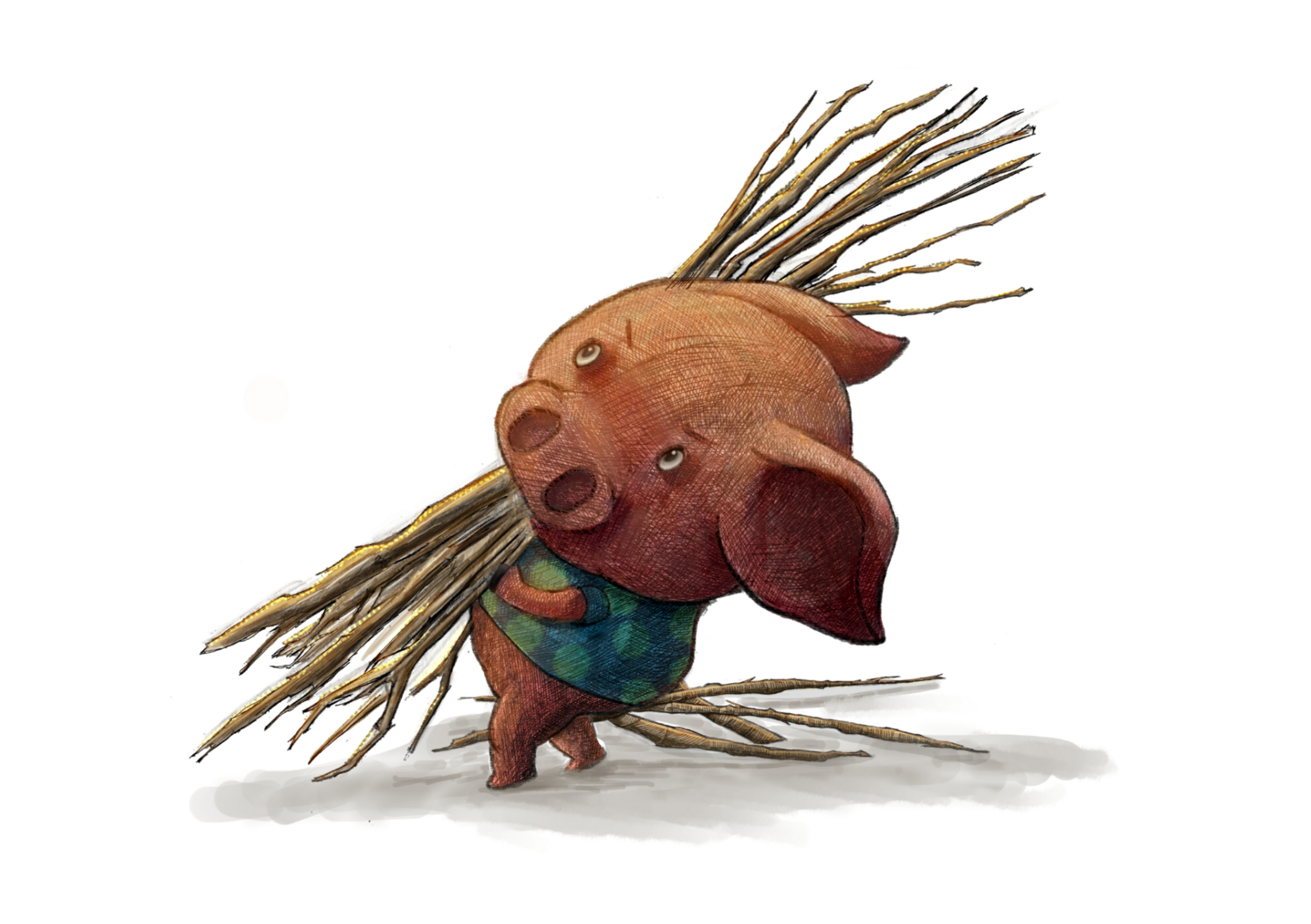 Pig of Sticks Artwork by Julian Beresford