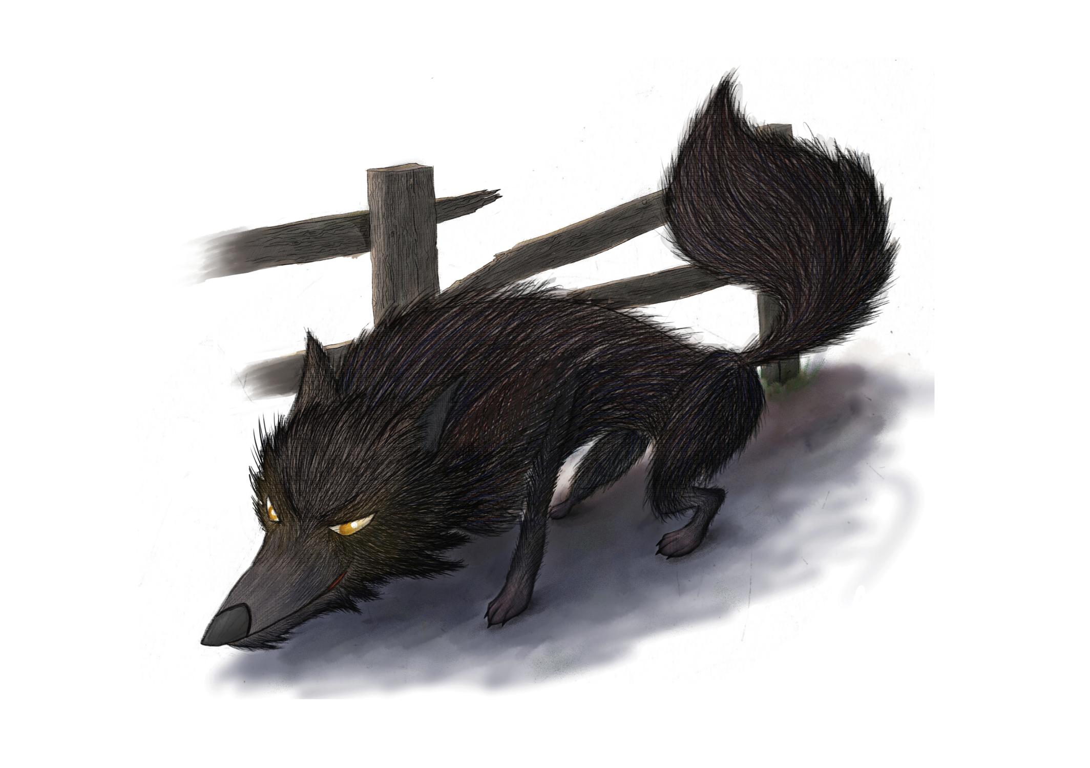 Big Bad Wolf Artwork by Julian Beresford