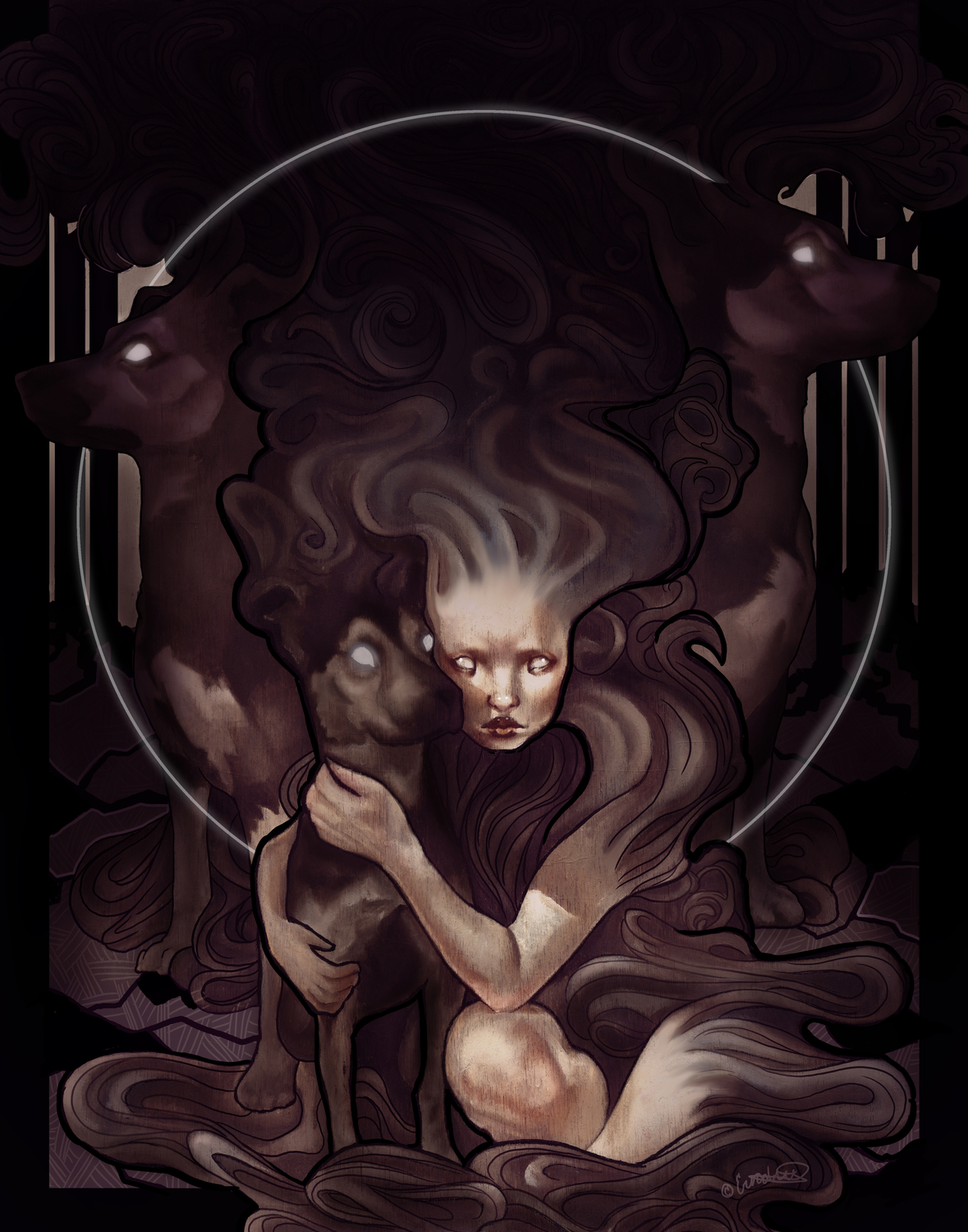 Keeper of the Hounds Artwork by Erica Willey
