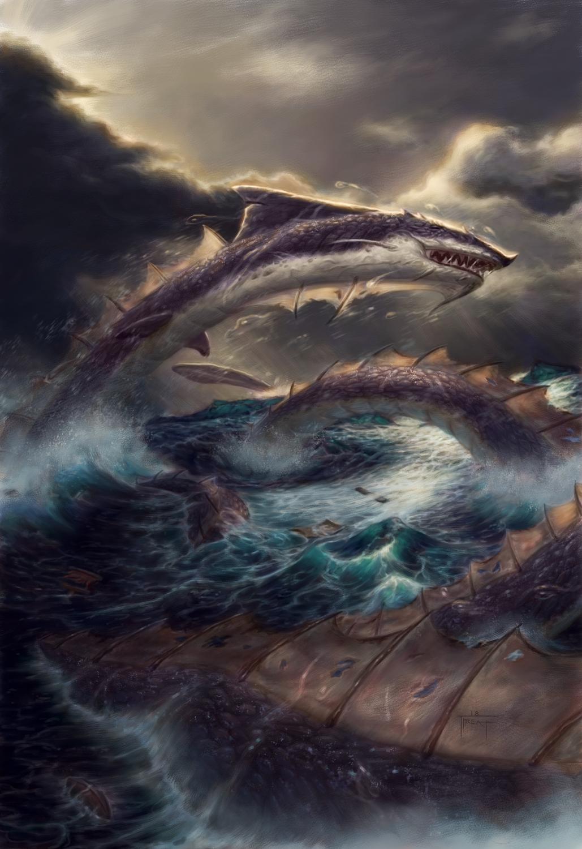 Sea Serpent Artwork by Jarel Threat
