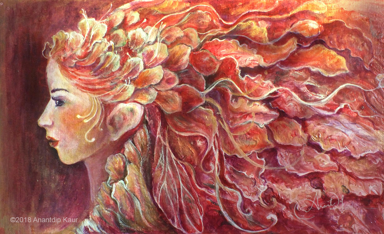 Autumn Fairy Artwork by Anantdip Kaur