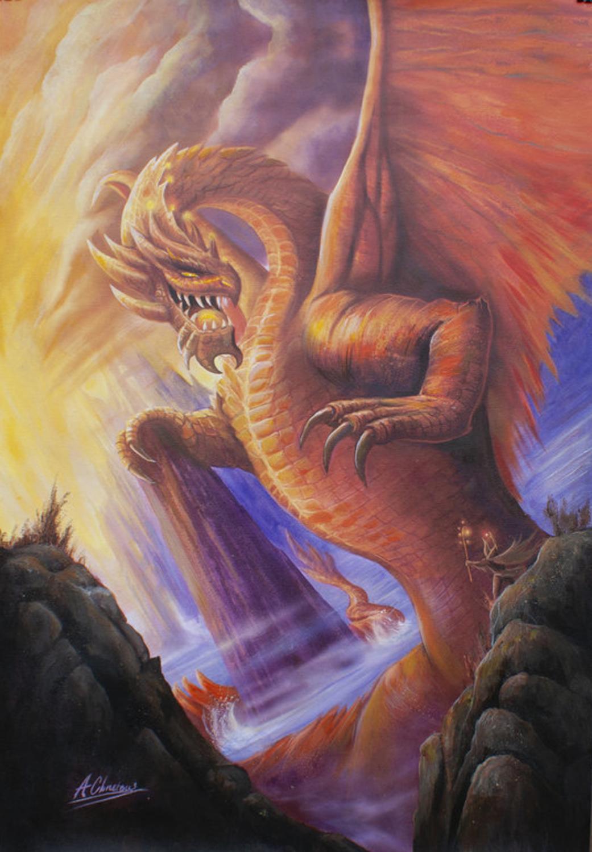 Titan Dragon Artwork by Anthony Christou