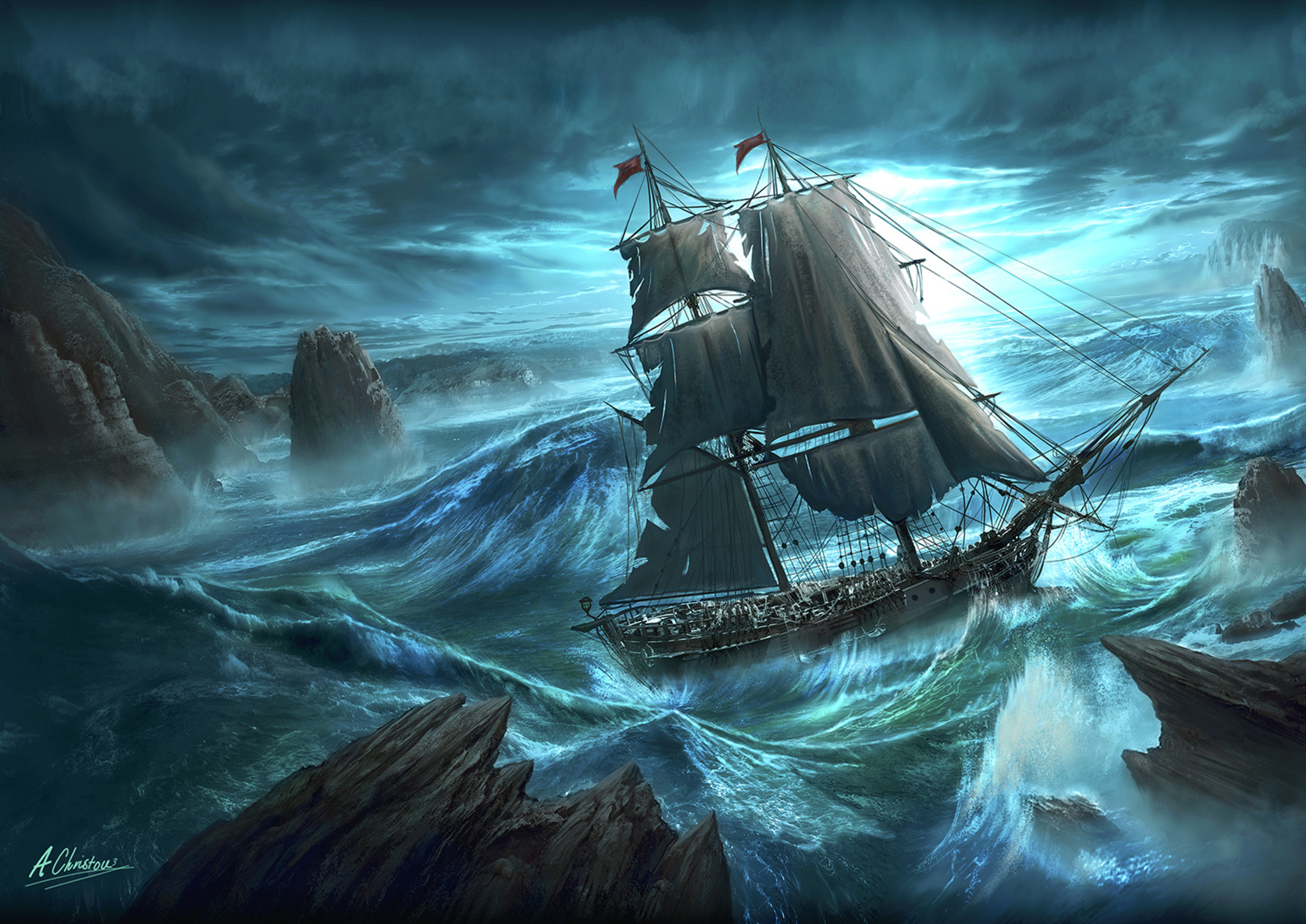 Dangerous Seas Artwork by Anthony Christou
