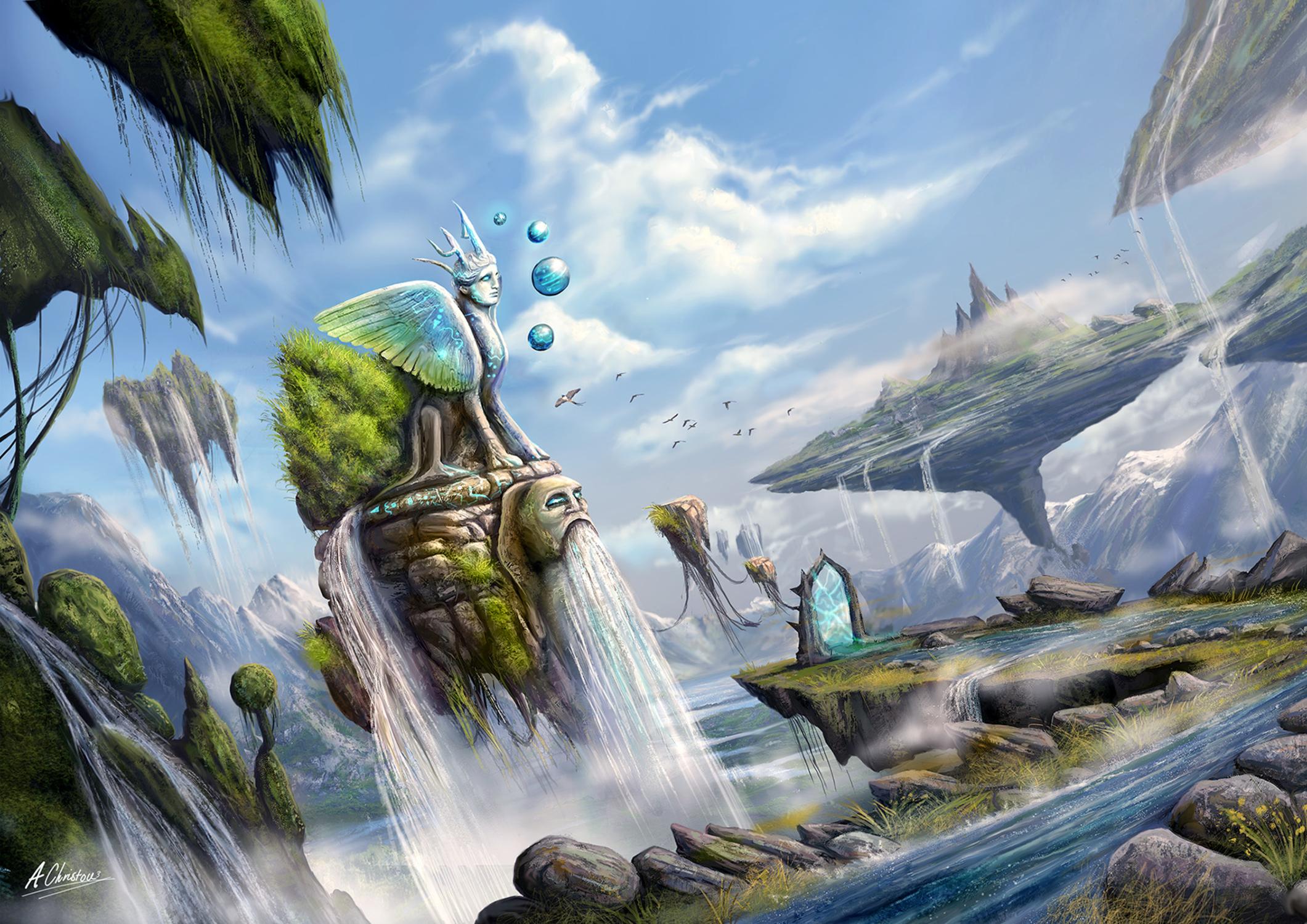 Dreamsacpe Islands of Argolida Artwork by Anthony Christou