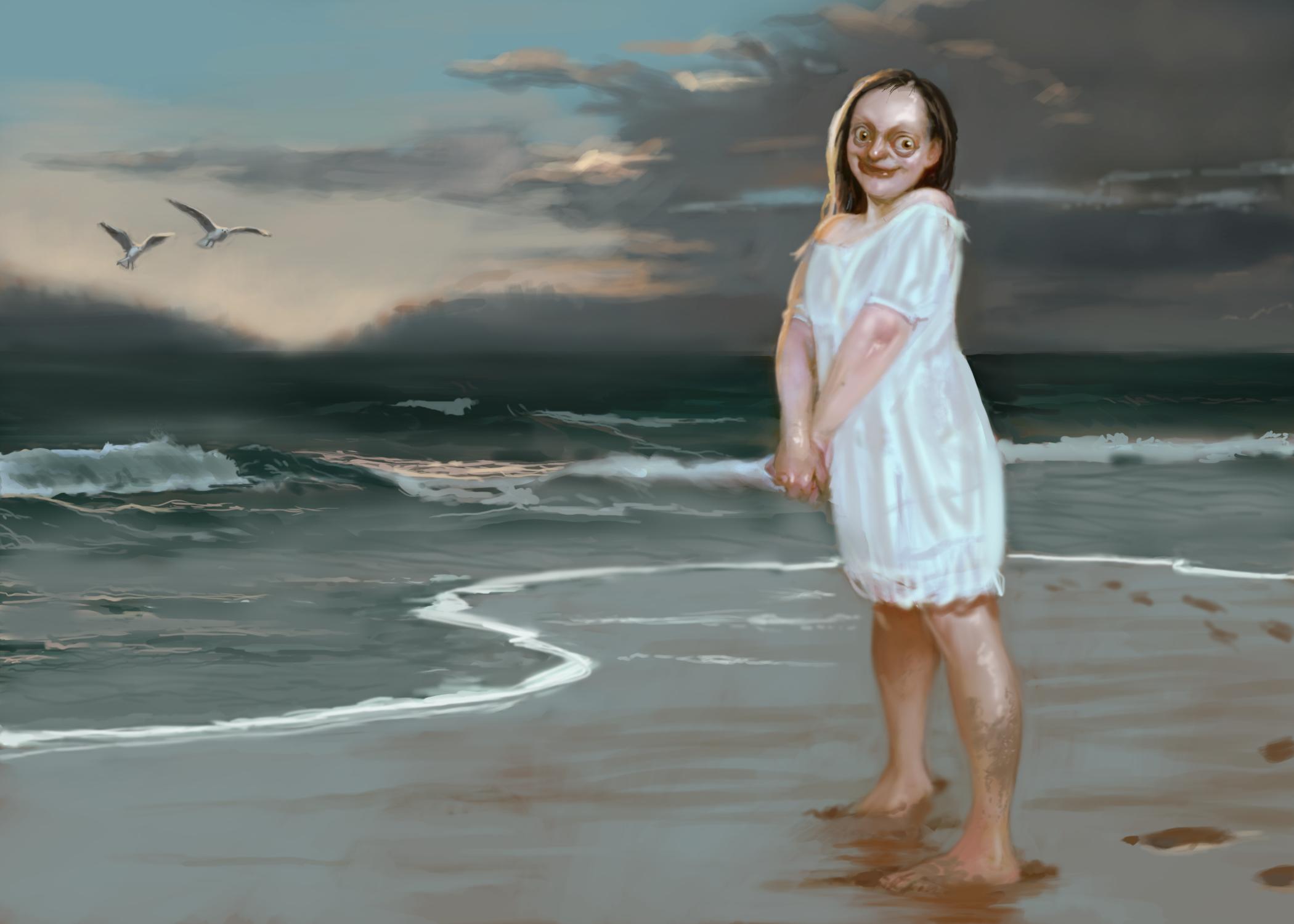 Innsmouth Girl Artwork by Doruk Golcu