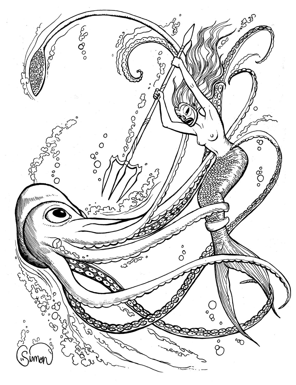 Deep Sea Duel Artwork by Ruth Simon