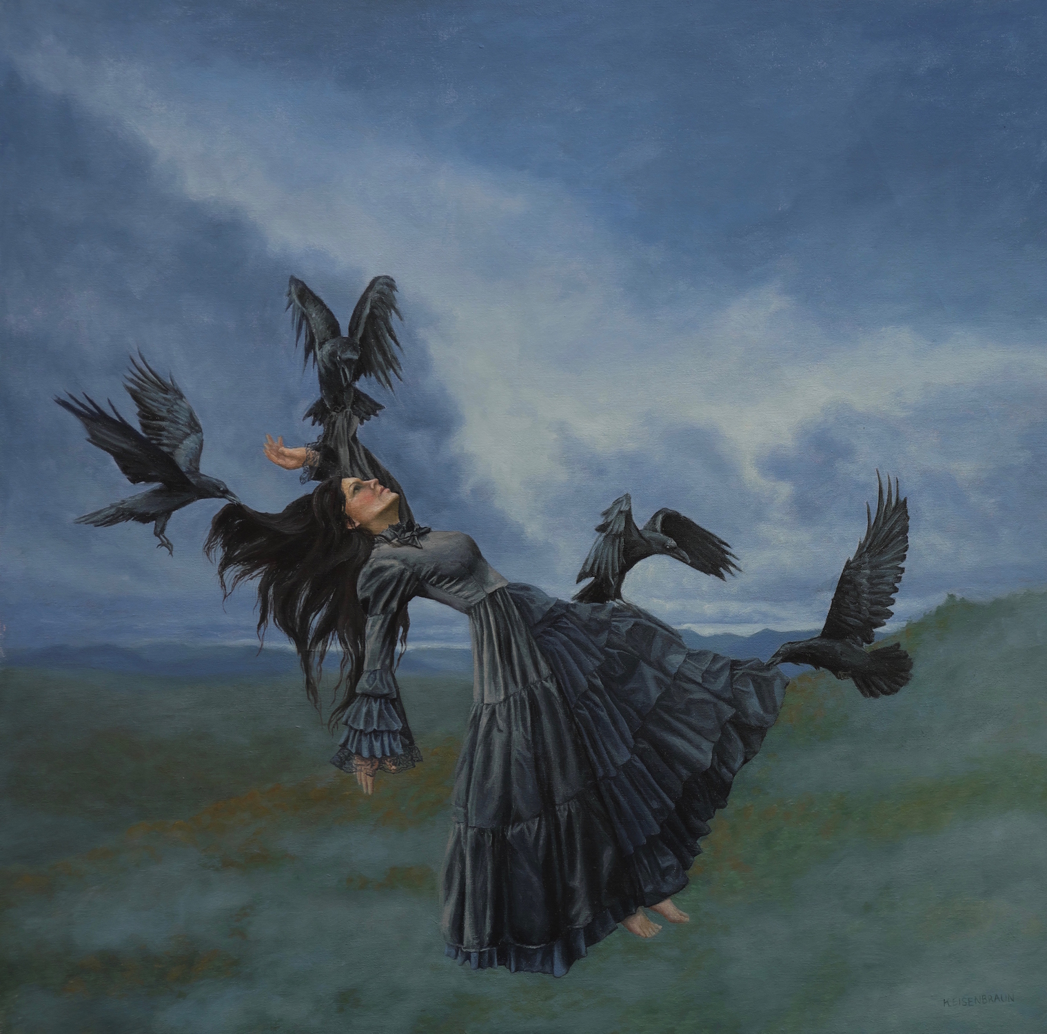 Lady Raven  Artwork by Kristen Eienbraun