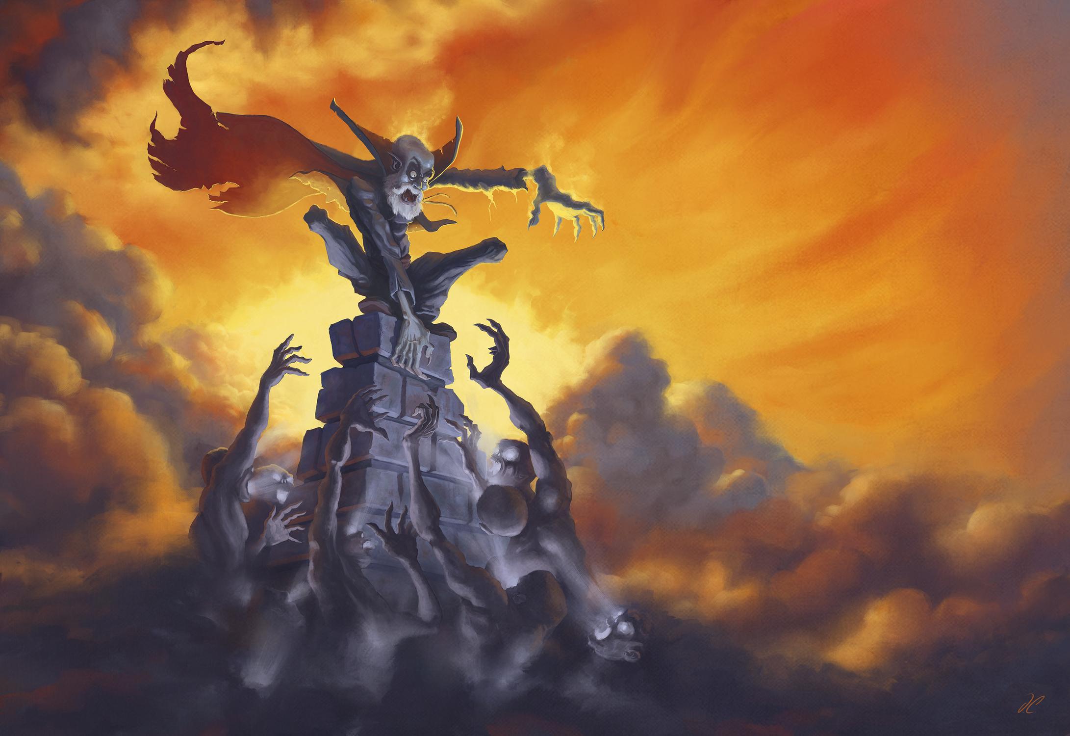 Vampire VS Ghouls Artwork by David Calabrese