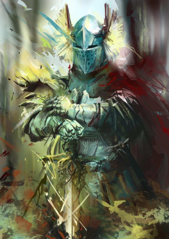 Guardian Knight Artwork by Alba Palacio