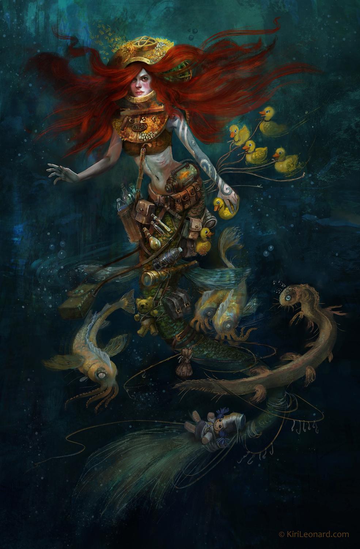 The Mermaid Collector Artwork by Kiri Østergaard Leonard