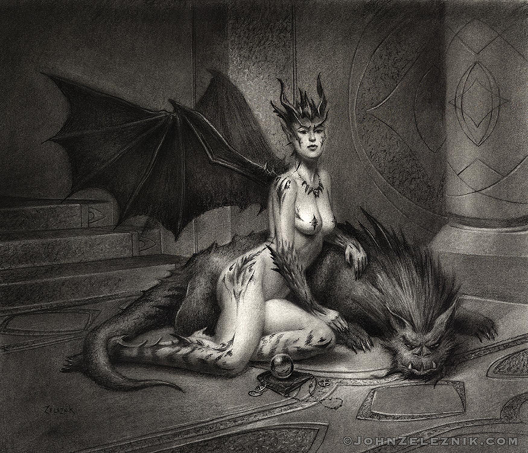 Shadia & the Beast Artwork by John Zeleznik