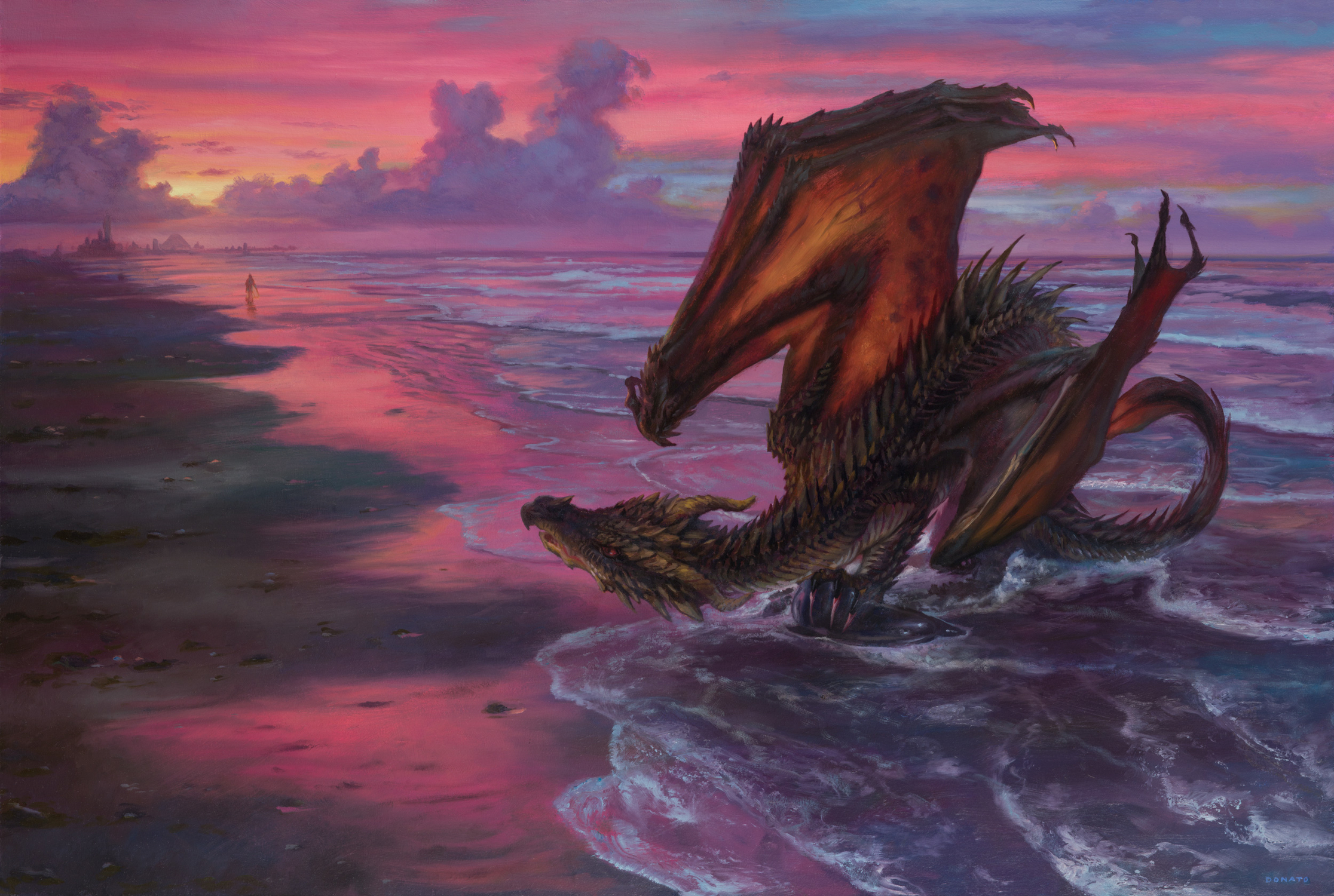 Drogon and Daenerys in Slaver's Bay Artwork by Donato Giancola