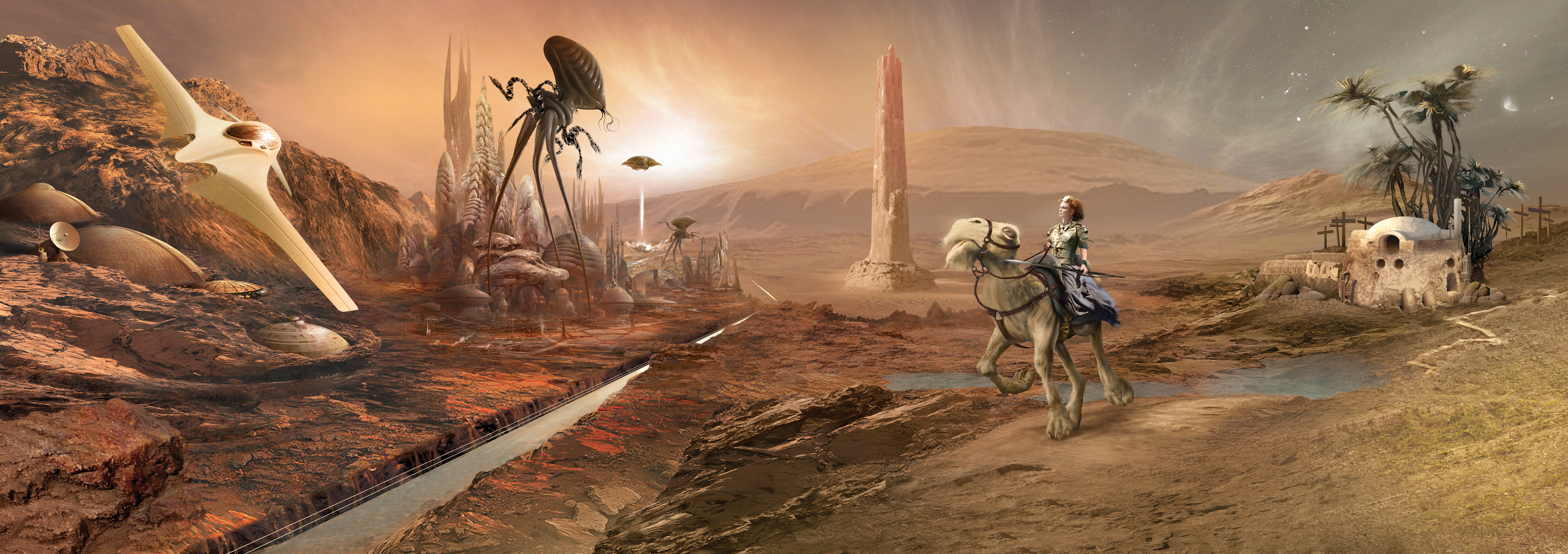 'The Martian Quartet' Artwork by Jim Burns
