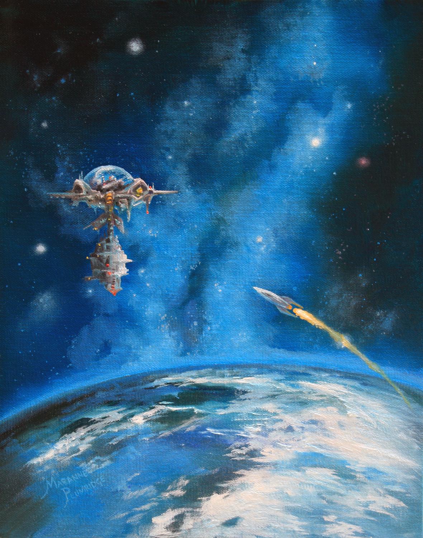 BLUE HORIZONS Artwork by Marianne Plumridge