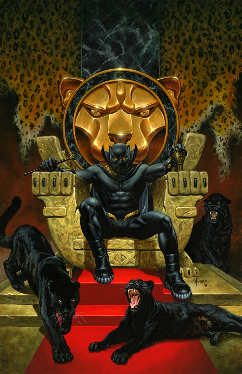 BLACK PANTHER Artwork by Joe Jusko