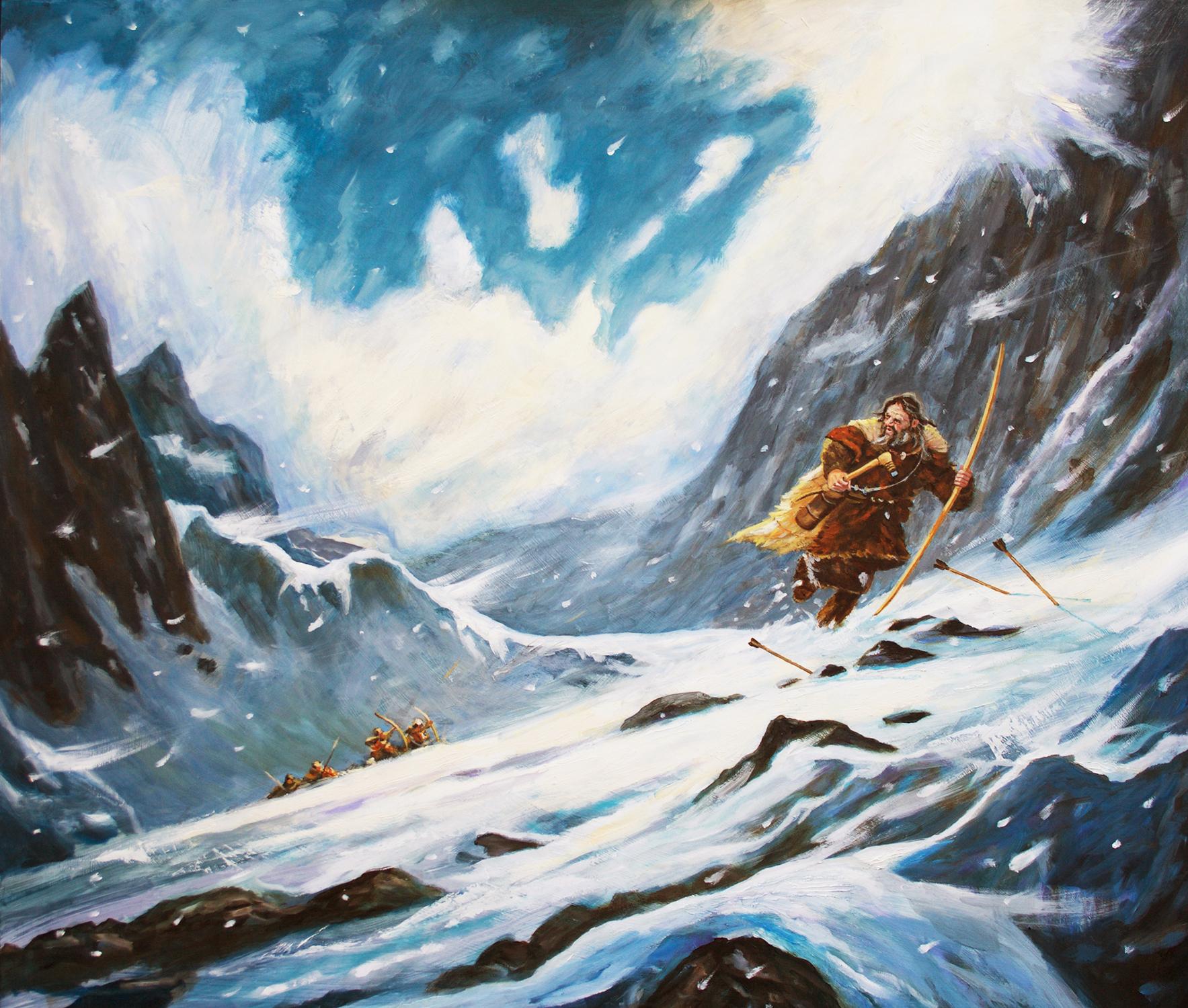 Otzi the Iceman Artwork by Brian McElligott