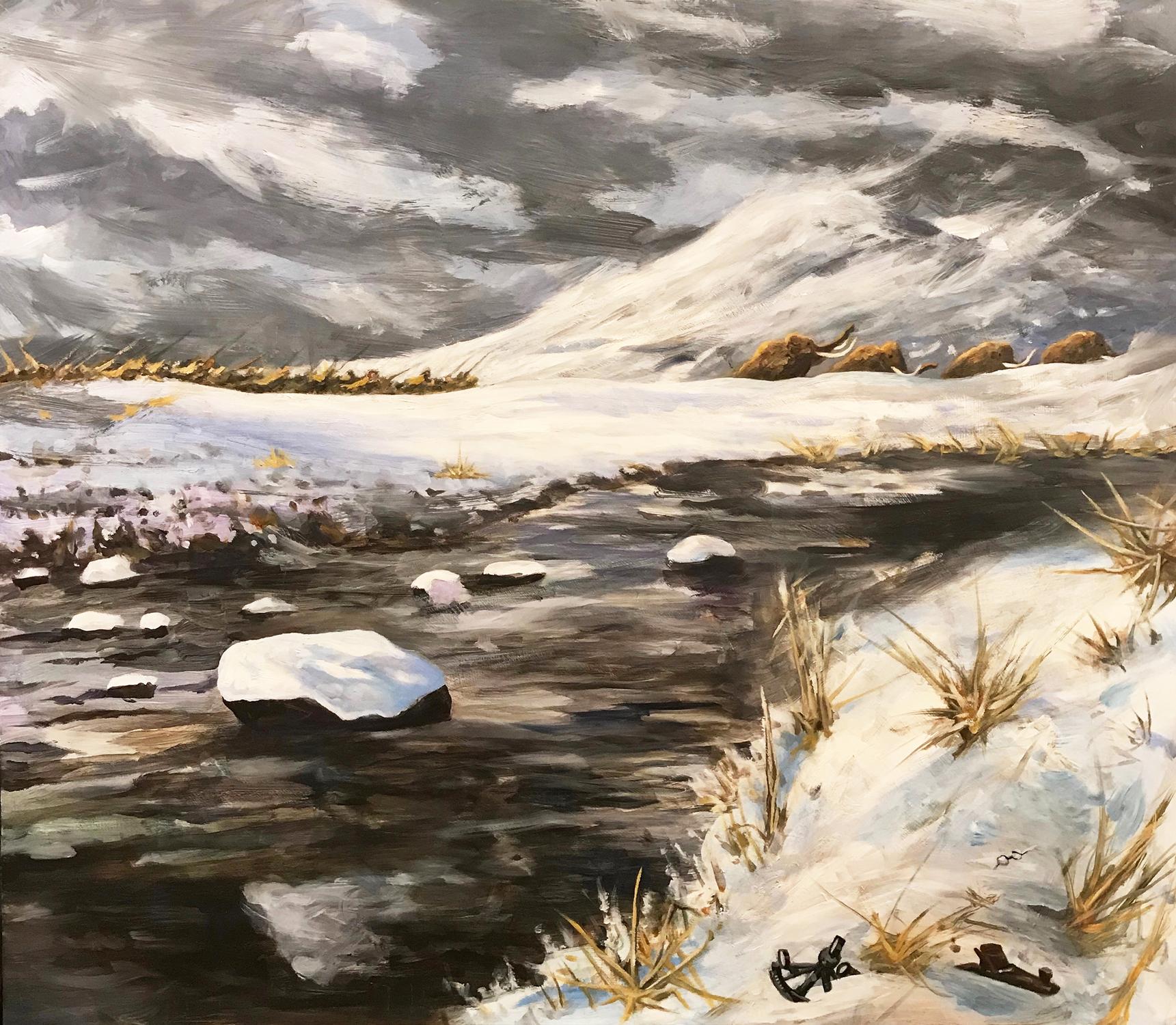 Mammoth Hunt Artwork by Brian McElligott