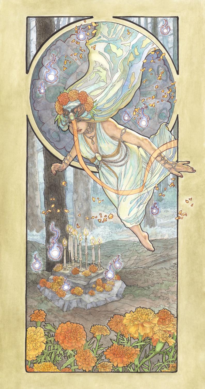 Lady of October Artwork by Angela Sasser