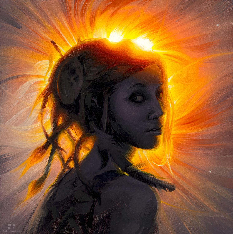Solar Eclipse Artwork by Rob Rey