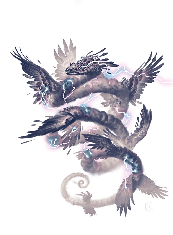 Elder Tempest Artwork by Aaron Miller