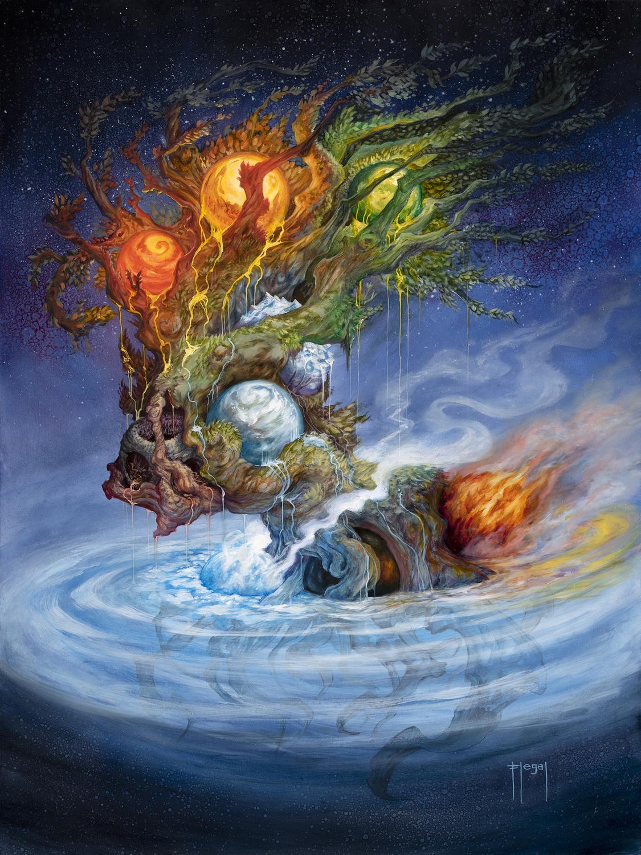 Yggdrasil, the World Tree Artwork by Sam Flegal