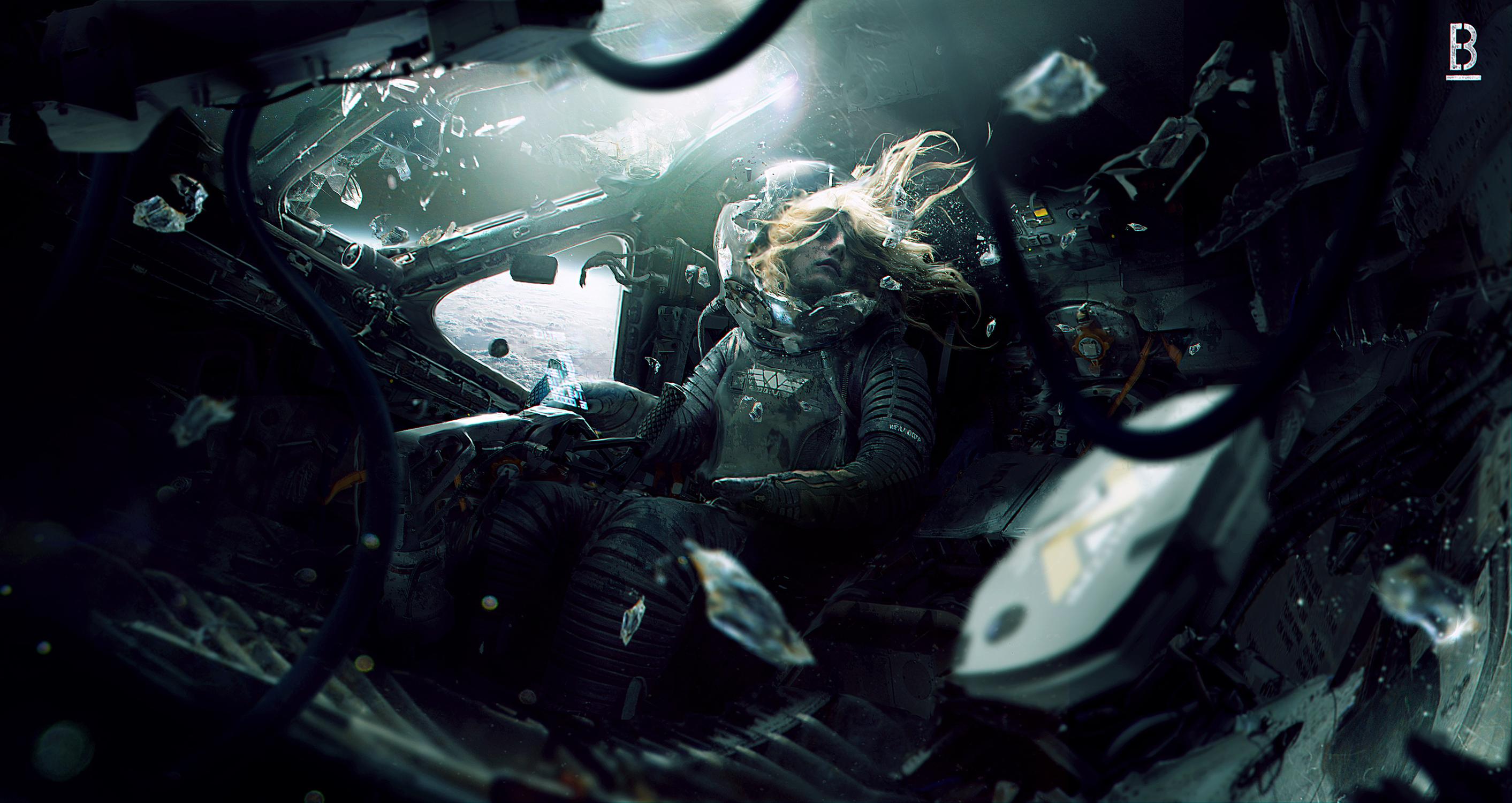 Weyland Yutani Shuttle failed escape from LV-426 Artwork by Benoit Godde