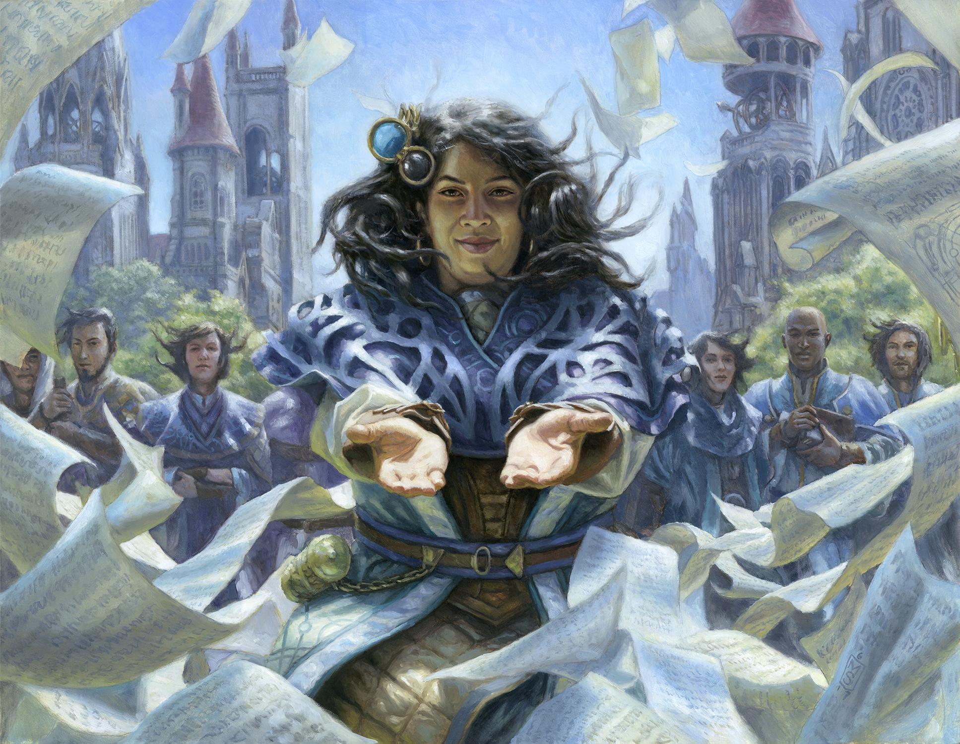 Naru Meha, Master Wizard Artwork by Matthew Stewart