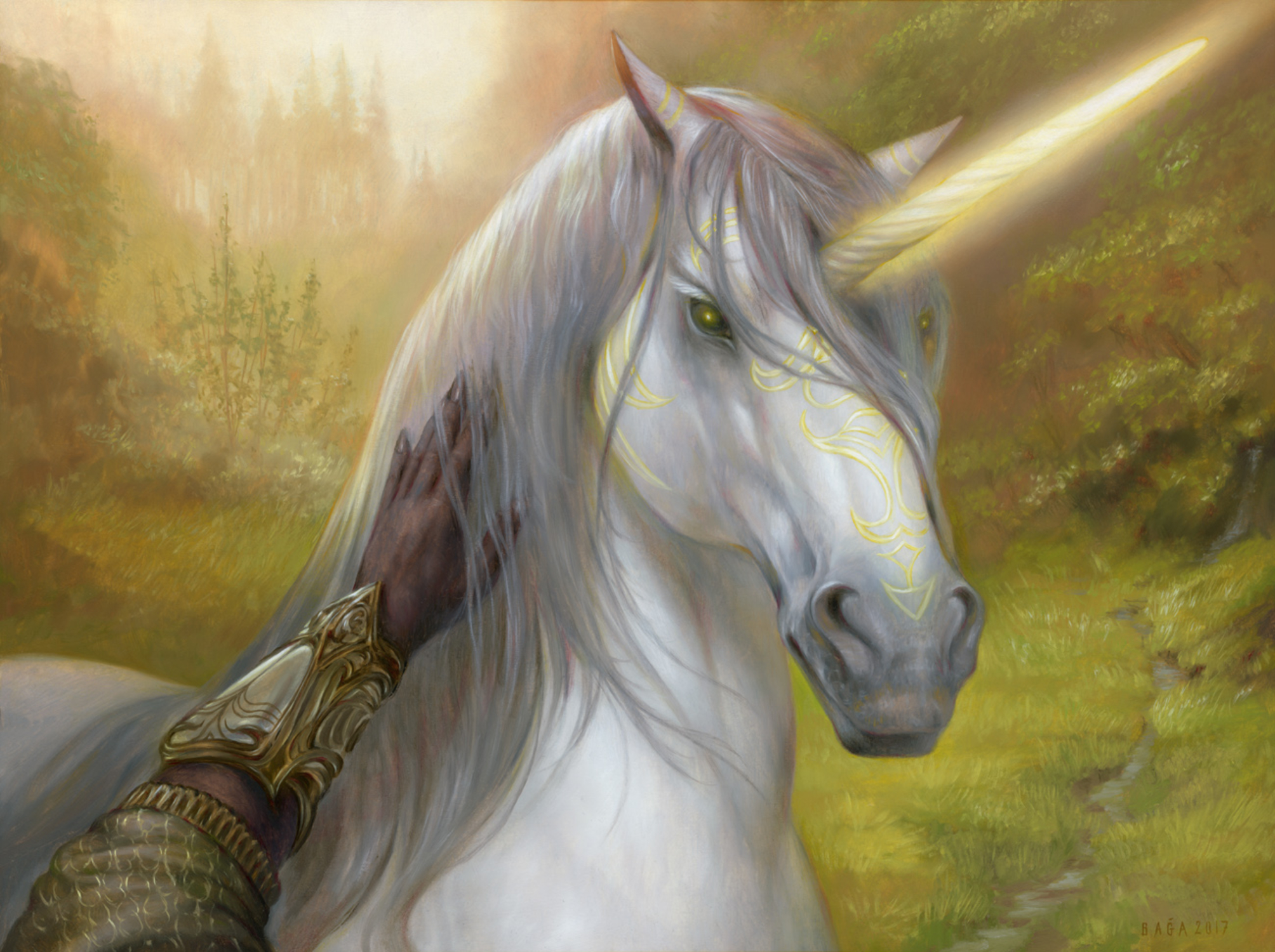 Loyal Unicorn Artwork by Volkan Baga