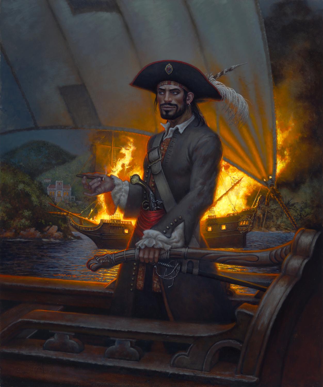 Pirate Jean Hamlin at Large Artwork by Don  Maitz