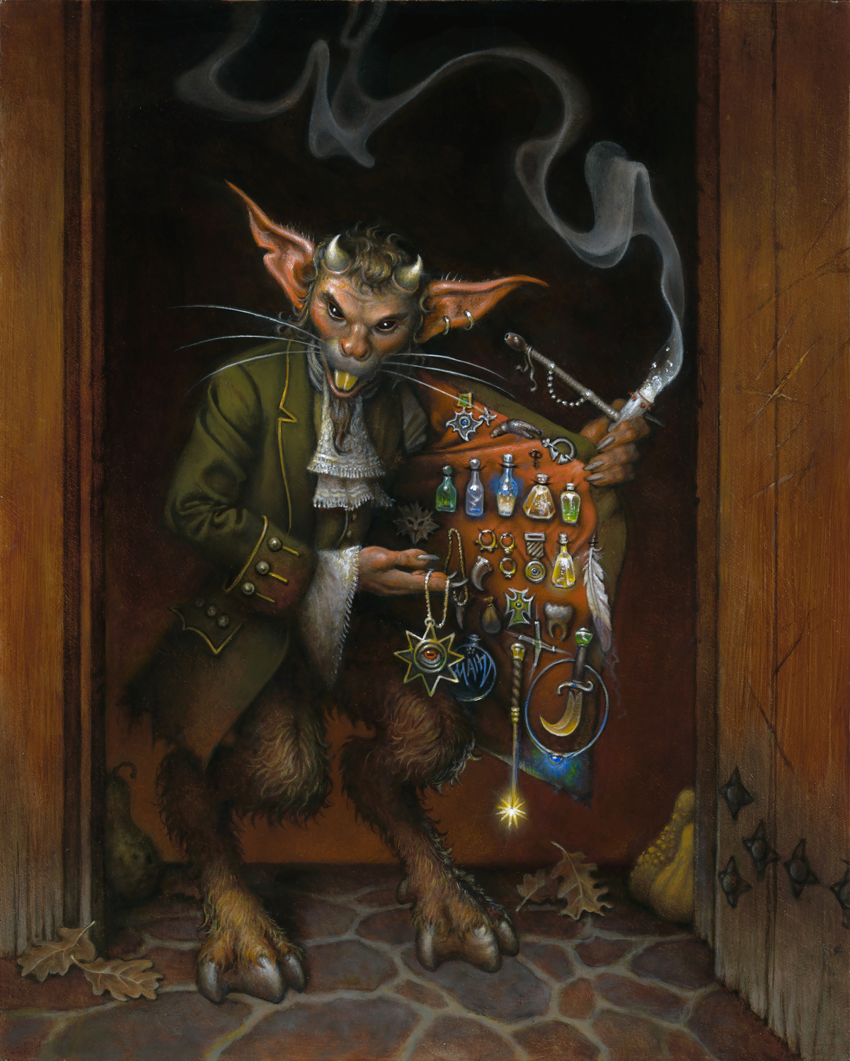 Potions Charms Lucky Trinkets Artwork by Don  Maitz