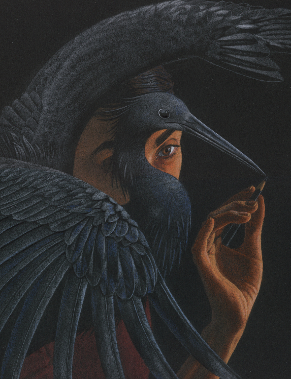 Black Heron Artwork by Julia Griffin