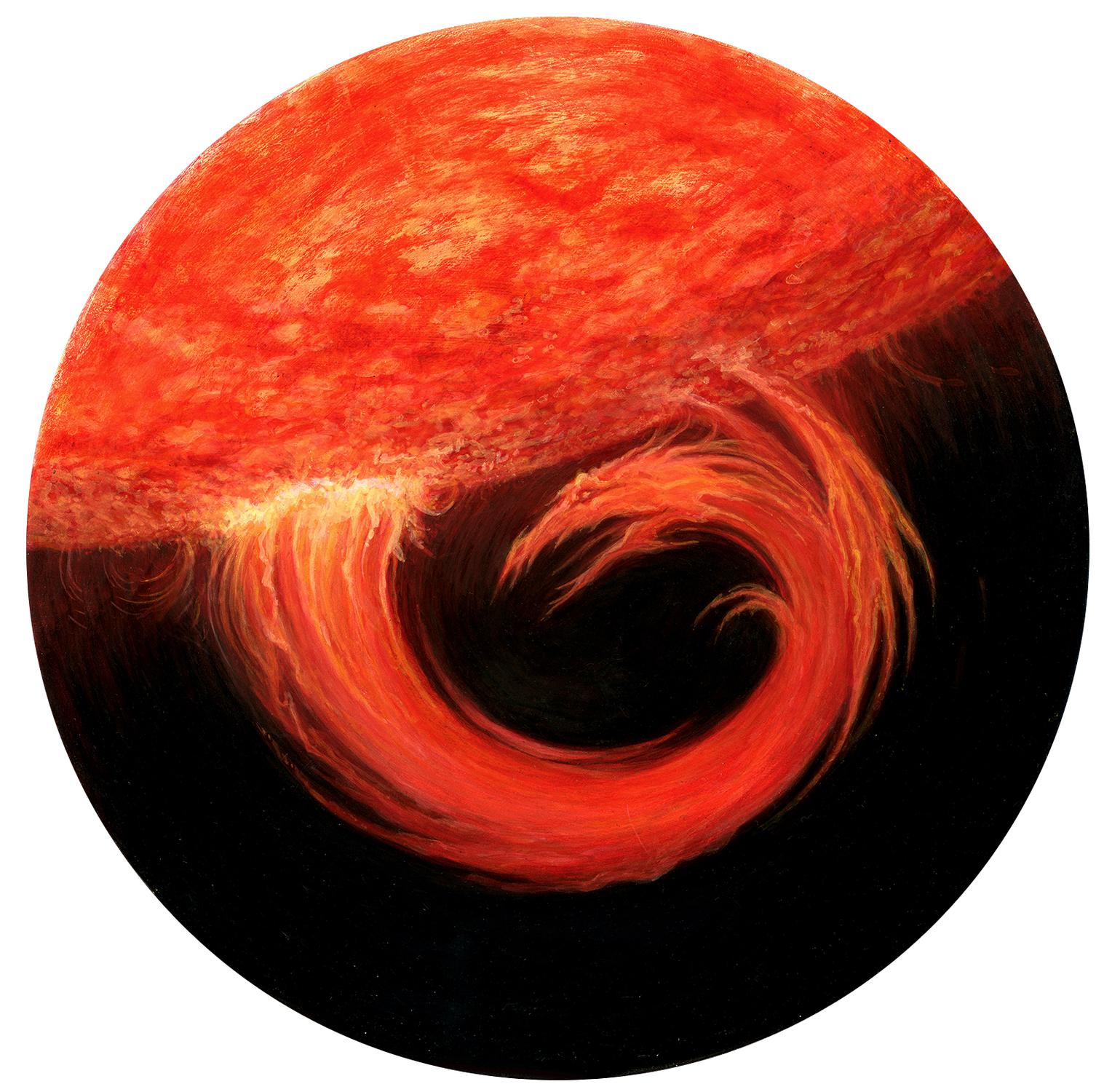 Solar Flare Dragon Artwork by I. S. Kallick