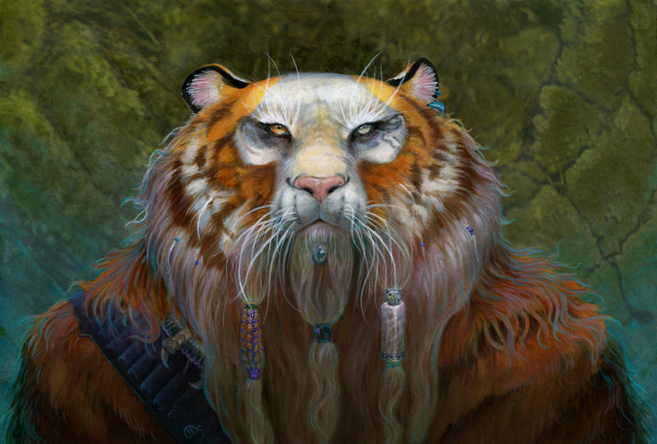 Dwarf Tiger Artwork by Diana Stein