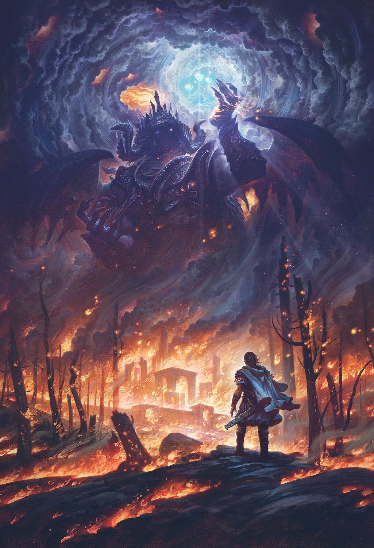 Morgoth and the Silmarils  Artwork by Justin Gerard
