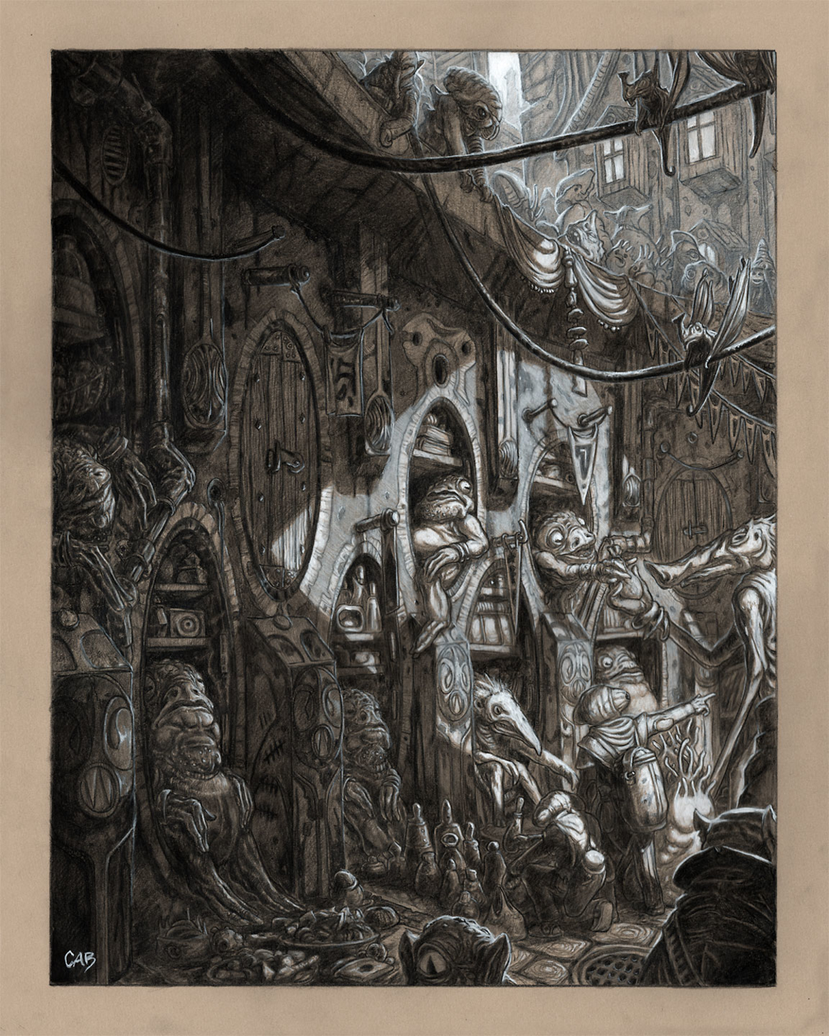 Hollow Alley Artwork by Christopher Burdett