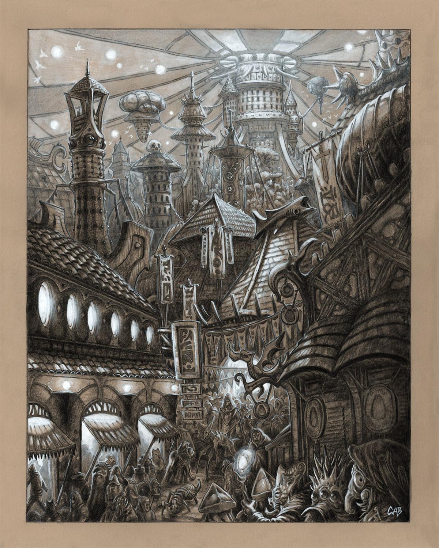 The Grand Bazaar Artwork by Christopher Burdett