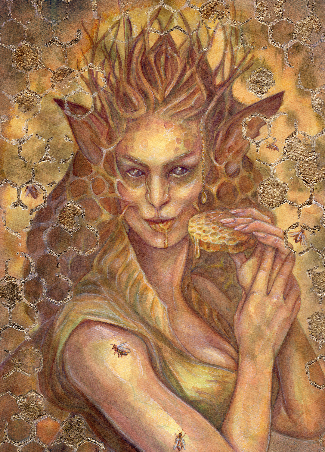 Unseelie Honeycomb Fae Artwork by Belinda Morris