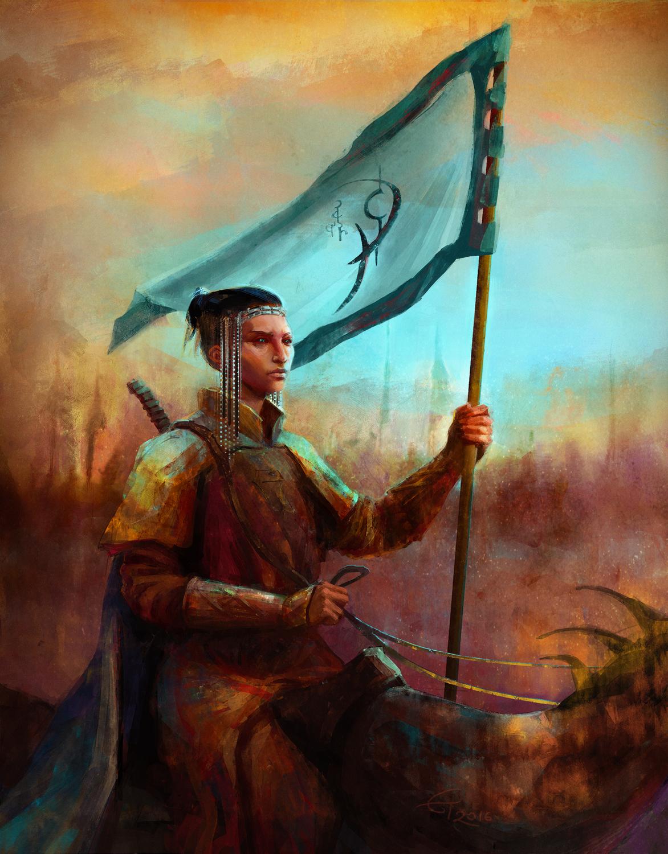 A Knight of Cydonia Artwork by Eleni Tsami